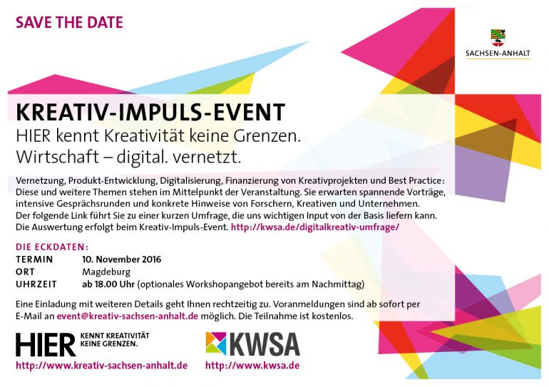 Save the date_Kreativ Impuls Event